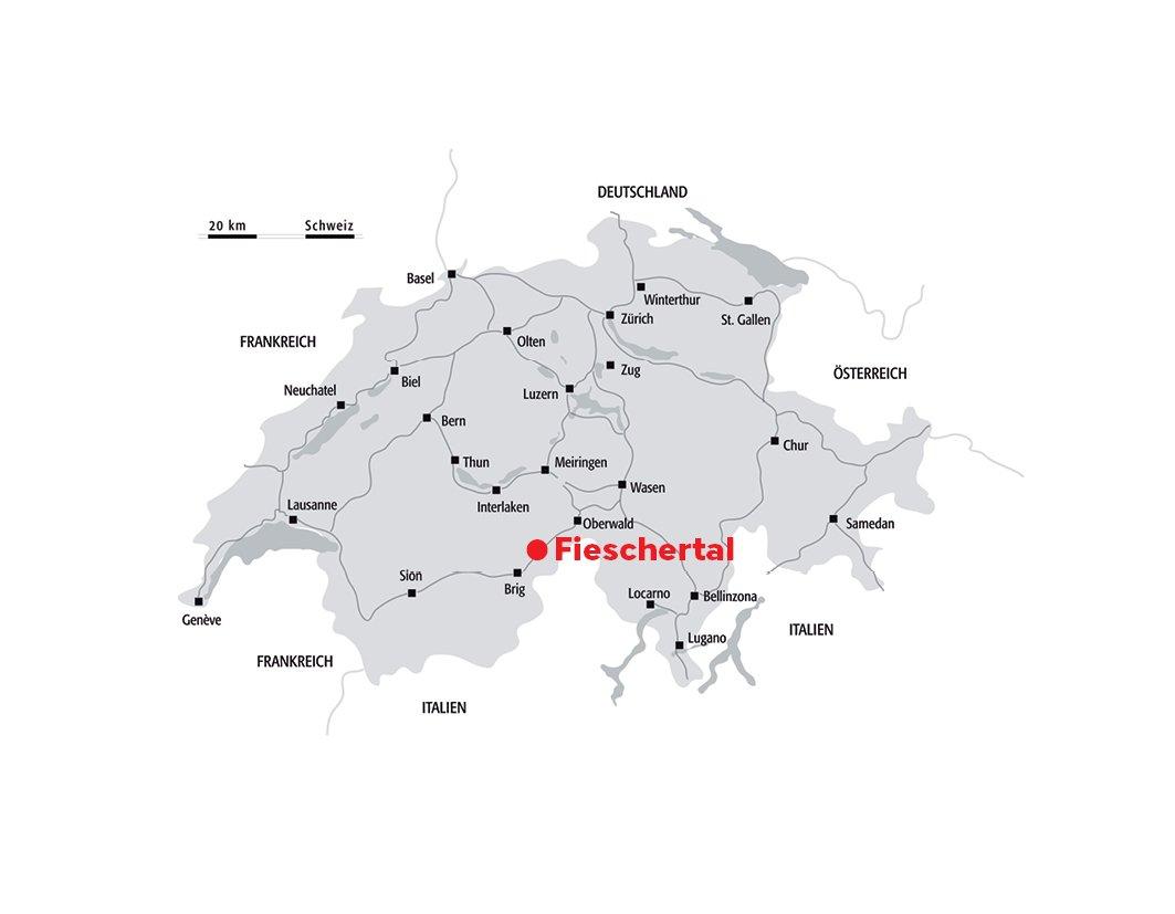 Übersichtskarte Schweiz